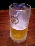 今日のライブ前ビール