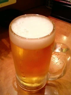 本日のセッション前ビール