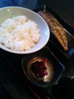 渋谷 侍 の 寒さば干し定食