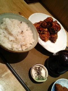 青山 もくち の 黒酢鶏唐定食
